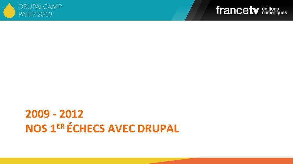 2009 - 2012 NoS 1er échecs avec DRUPAL