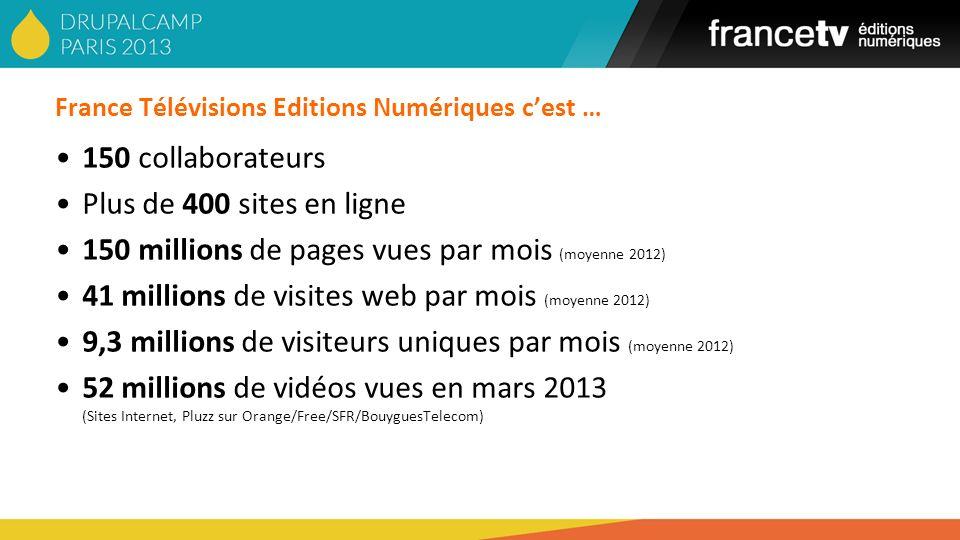 France Télévisions Editions Numériques c'est …