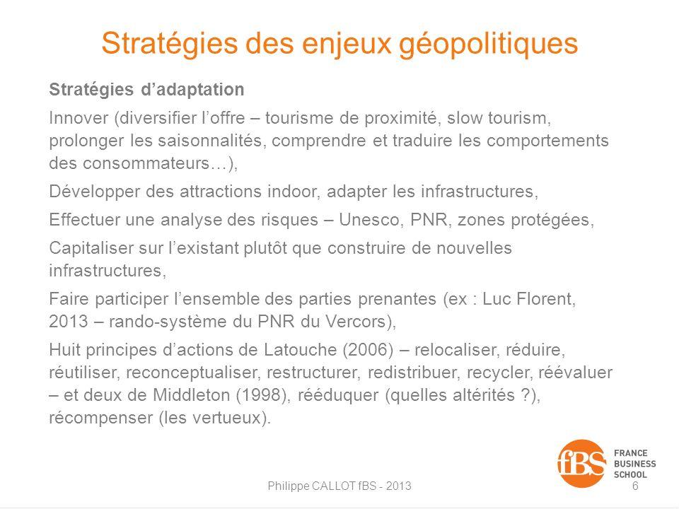 Stratégies des enjeux géopolitiques