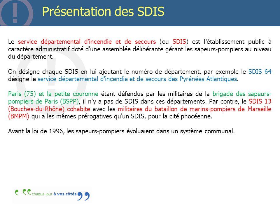 Présentation des SDIS