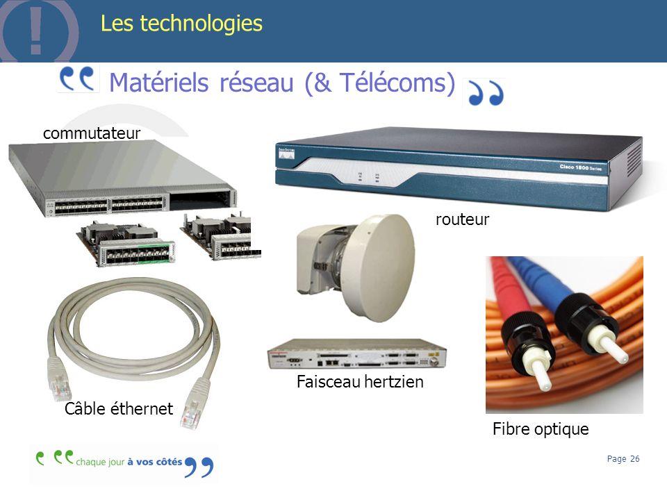 Matériels réseau (& Télécoms)