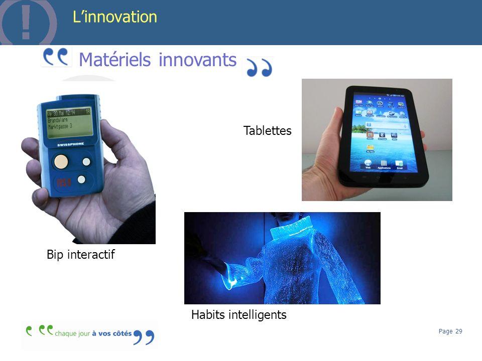 Matériels innovants L'innovation Serveurs Tablettes Bip interactif