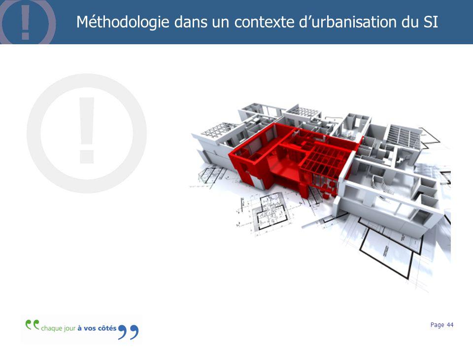 Méthodologie dans un contexte d'urbanisation du SI