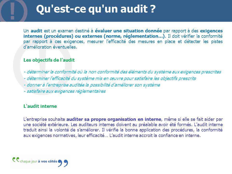 Qu est-ce qu un audit