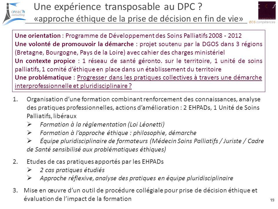 Une expérience transposable au DPC