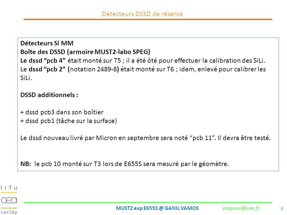 Détecteurs DSSD de réserve