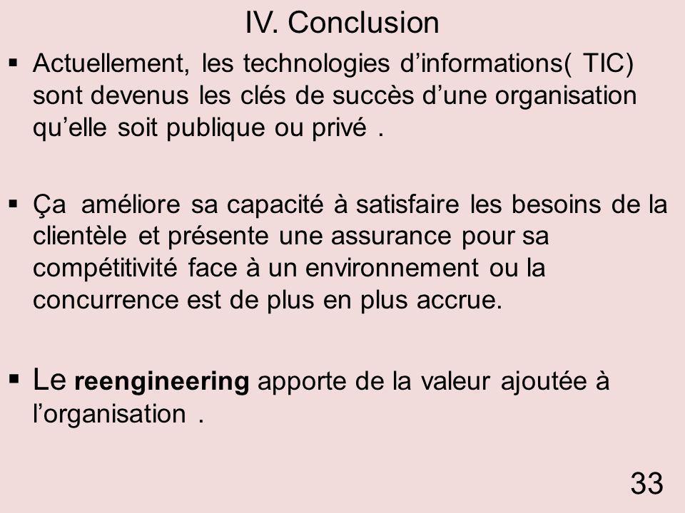 Le reengineering apporte de la valeur ajoutée à l'organisation .