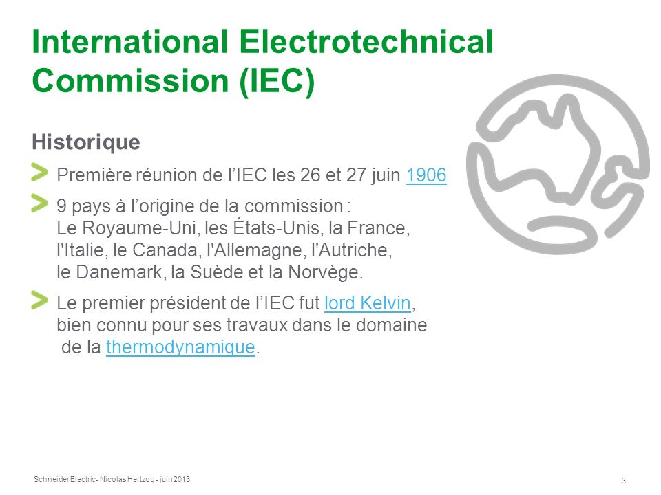 International Electrotechnical Commission (IEC)