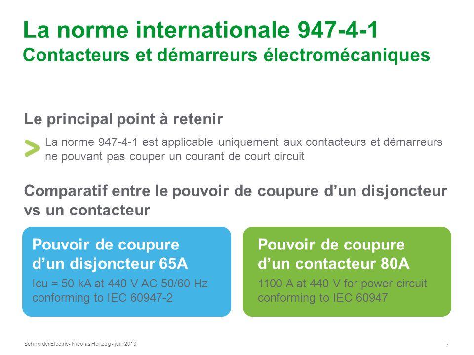 La norme internationale 947-4-1 Contacteurs et démarreurs électromécaniques