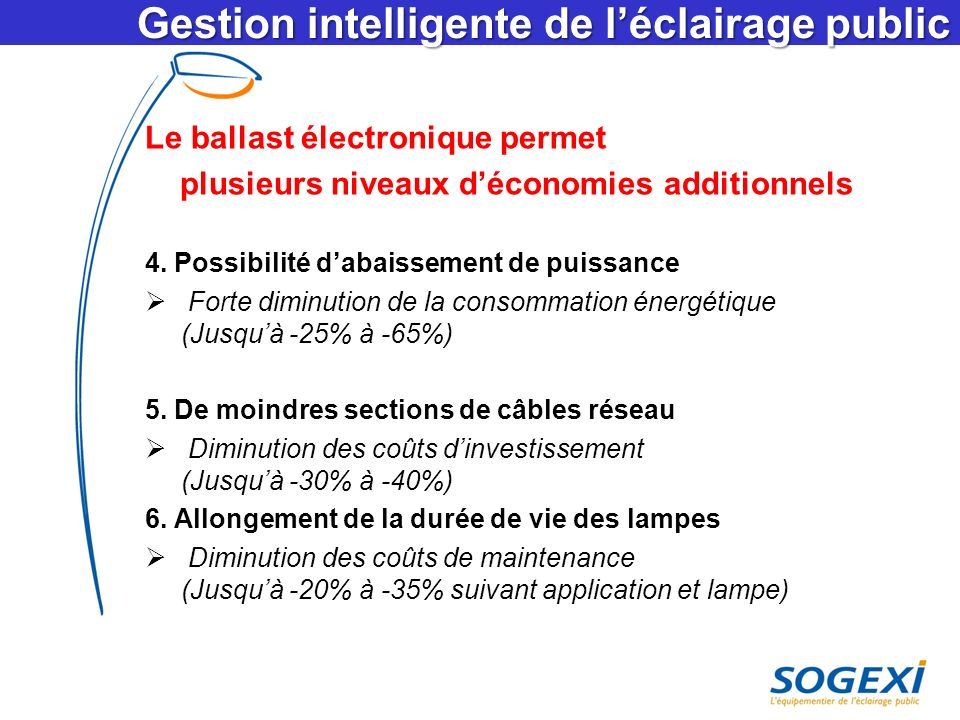 Gestion intelligente de l'éclairage public