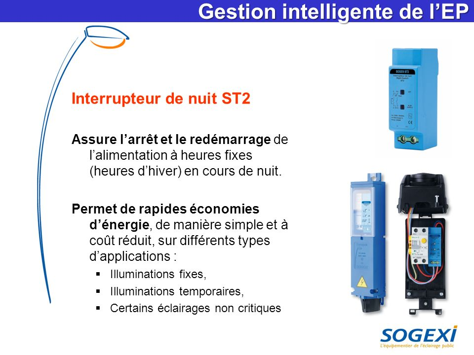 Gestion intelligente de l'EP
