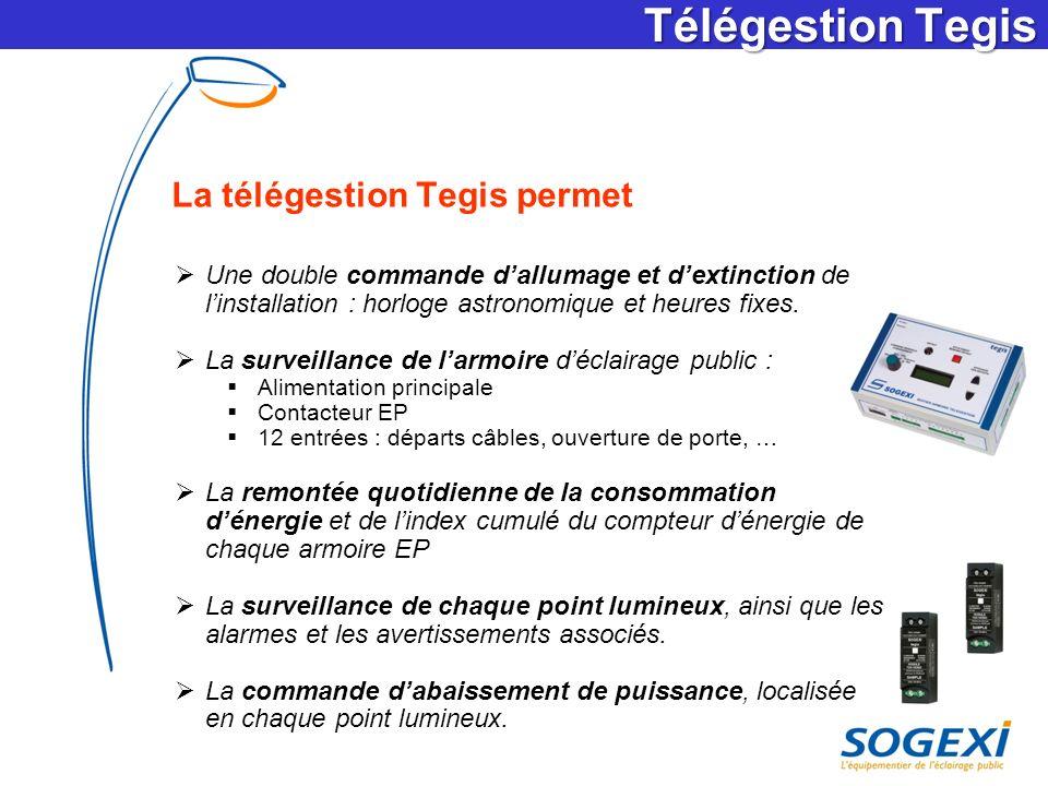 Télégestion Tegis La télégestion Tegis permet