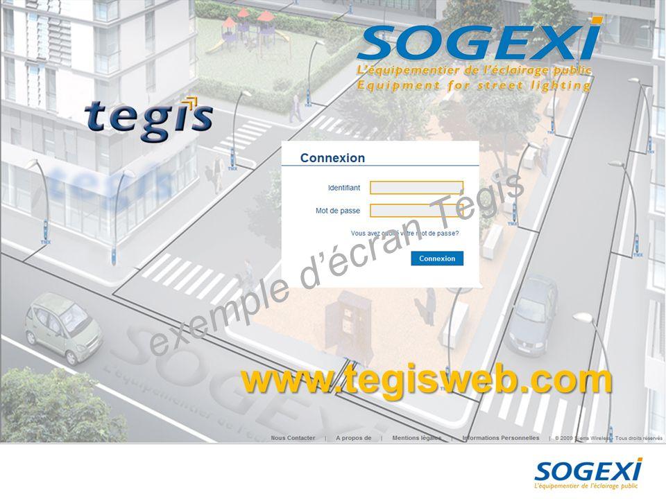 exemple d'écran Tégis www.tegisweb.com 28