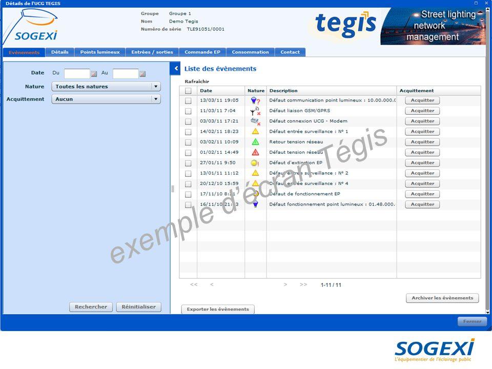 exemple d'écran Tégis 29