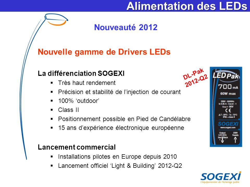 Alimentation des LEDs Nouveauté 2012 Nouvelle gamme de Drivers LEDs