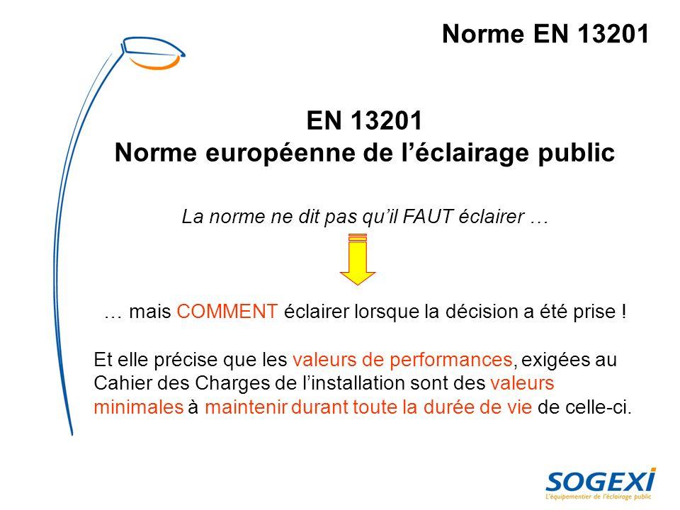 Norme européenne de l'éclairage public