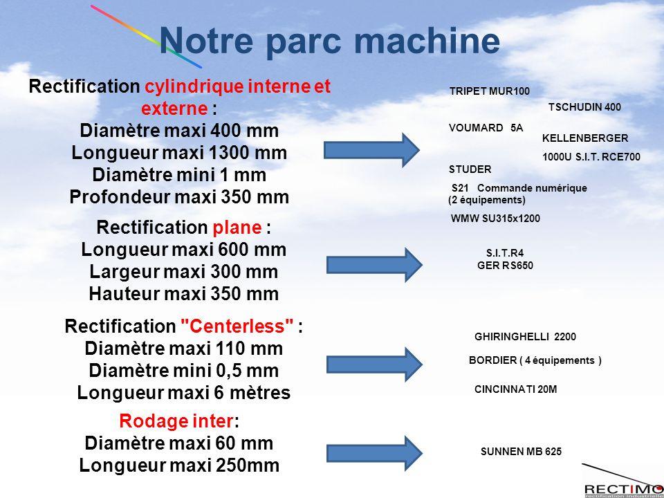 Notre parc machine Rectification cylindrique interne et externe :