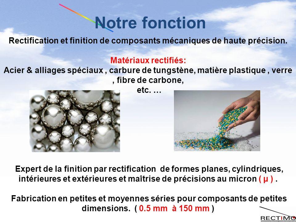Rectification et finition de composants mécaniques de haute précision.