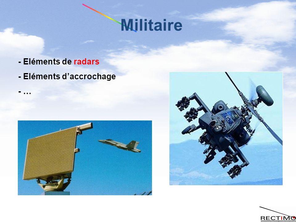 Militaire - Eléments de radars - Eléments d'accrochage - …