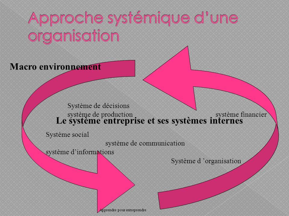 Approche systémique d'une organisation