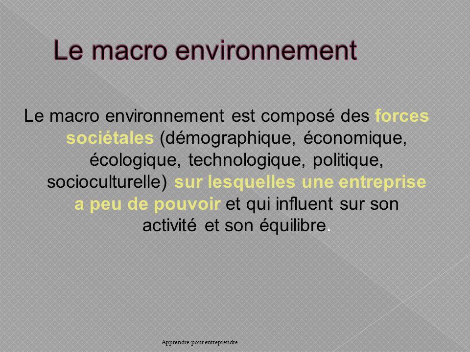 Le macro environnement