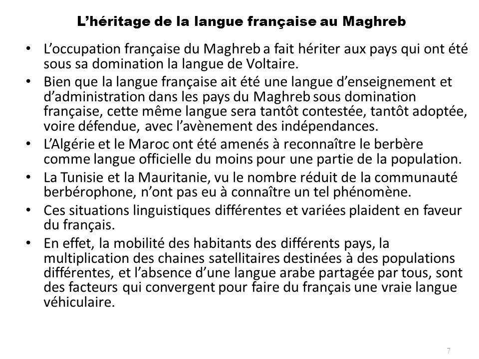 L'héritage de la langue française au Maghreb