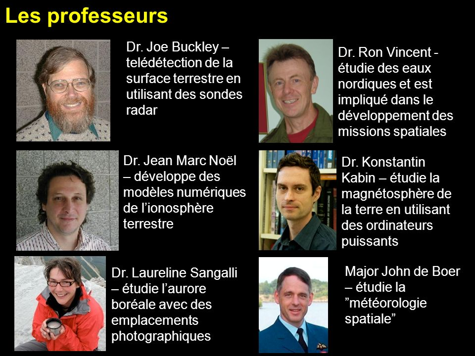 PHE 354 Course Outline Les professeurs. ACORD 08 Mar 2011. Dr. Joe Buckley – telédétection de la surface terrestre en utilisant des sondes radar.