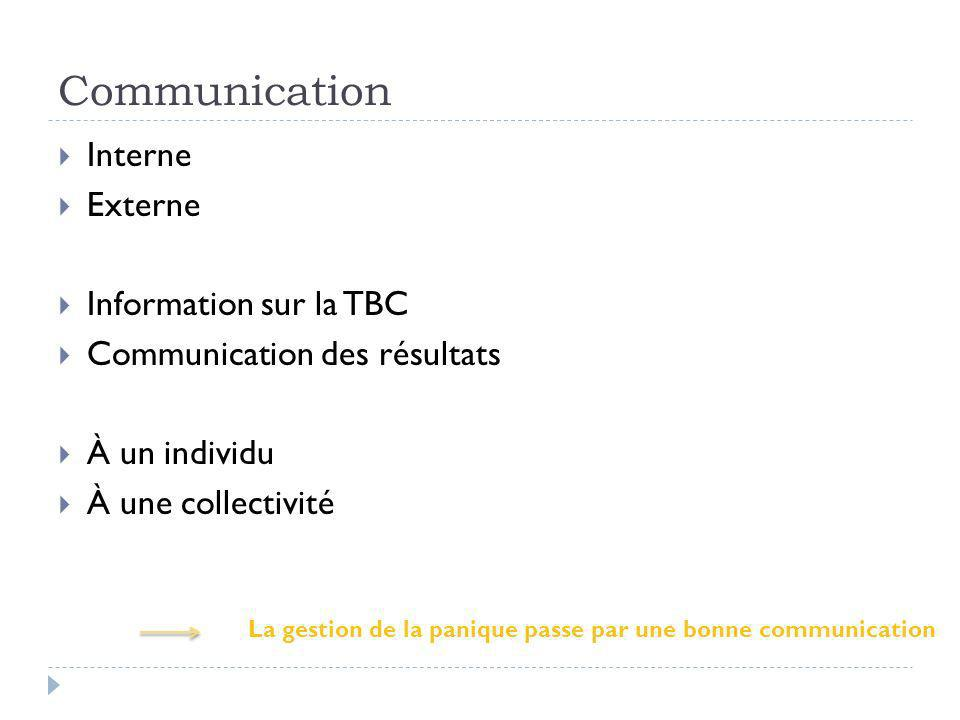 Communication Interne Externe Information sur la TBC