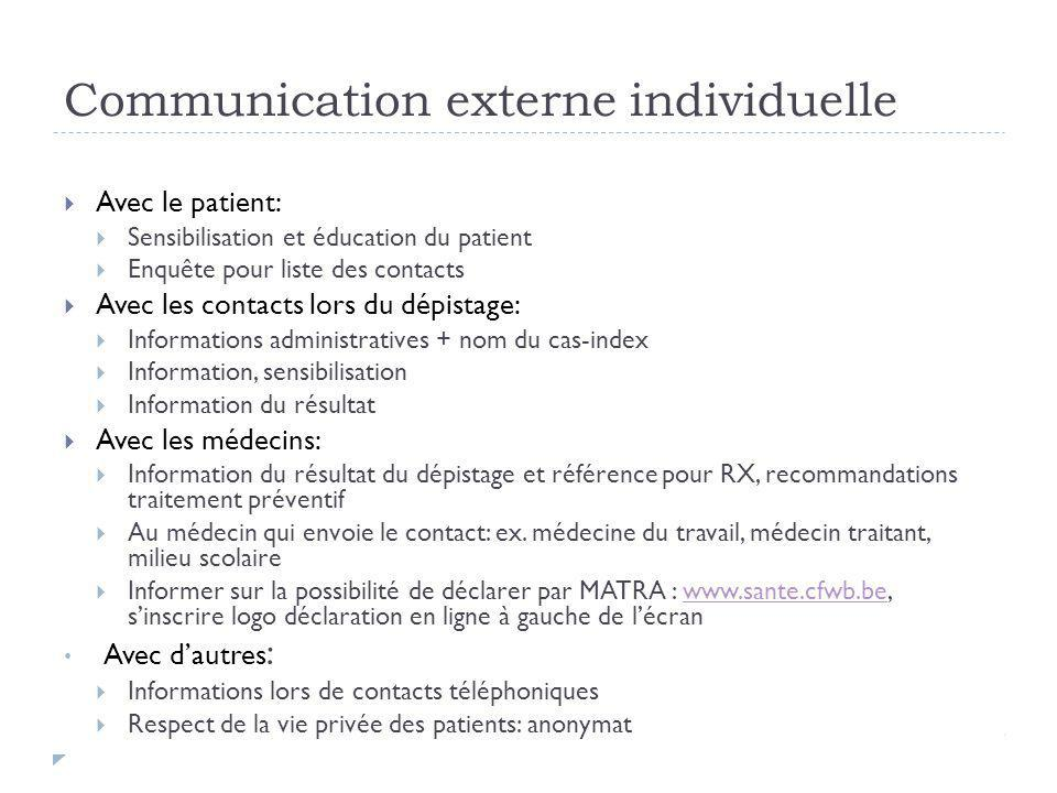 Communication externe individuelle