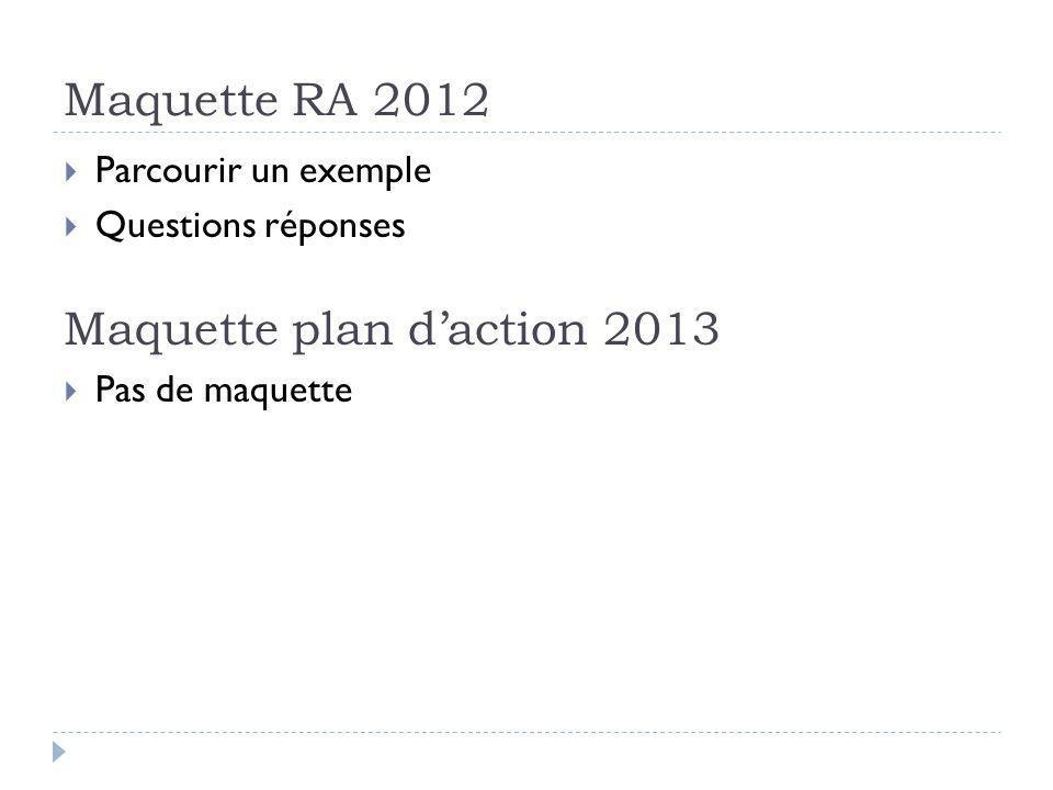 Maquette plan d'action 2013
