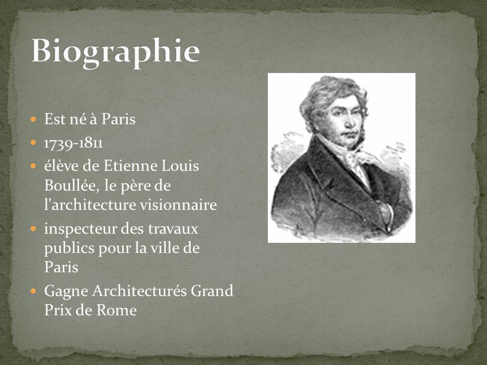 Biographie Est né à Paris 1739-1811