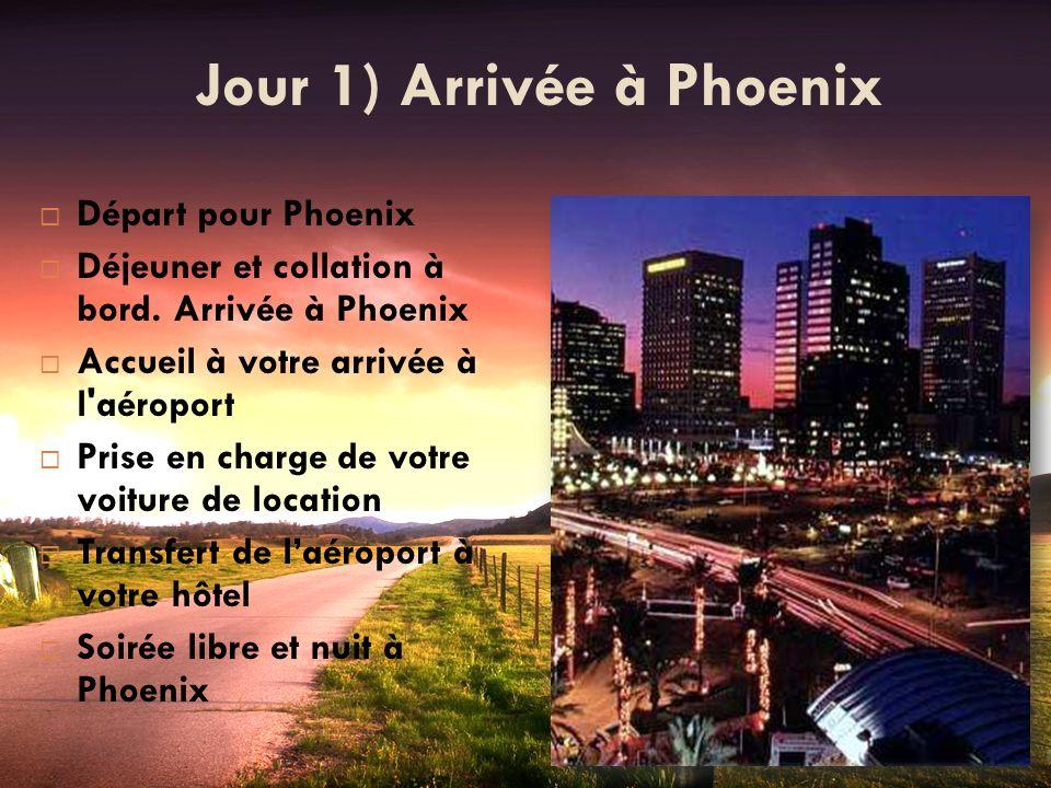 Jour 1) Arrivée à Phoenix