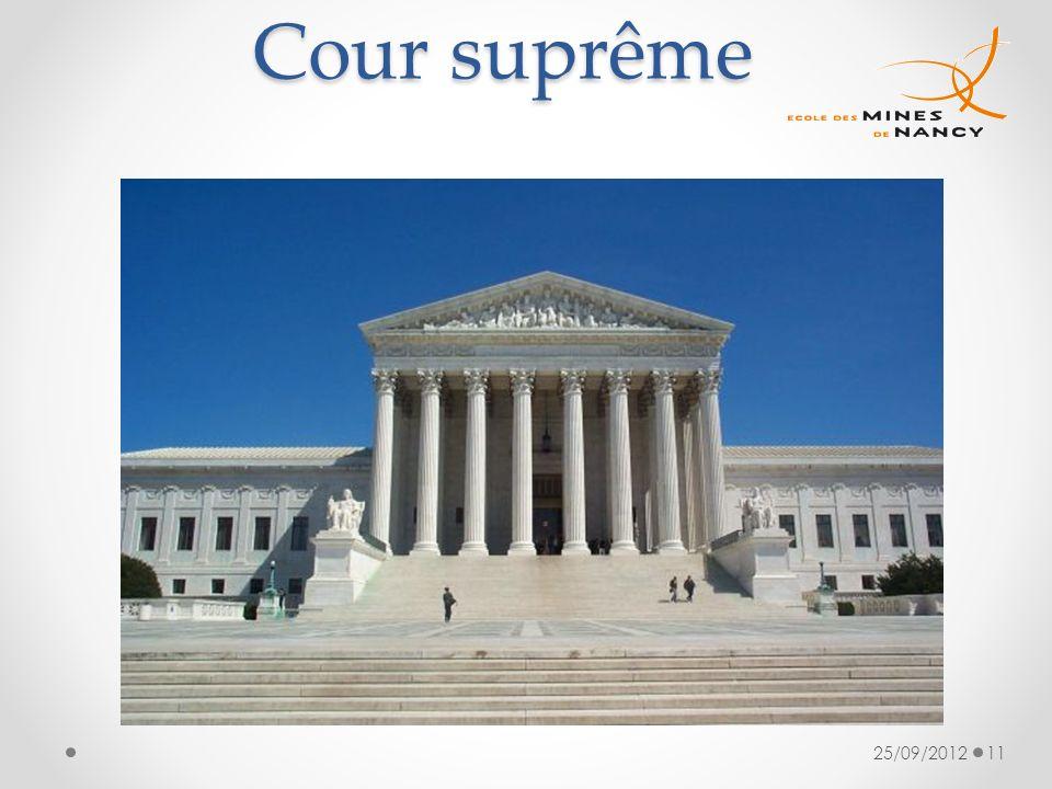 Cour suprême 25/09/2012