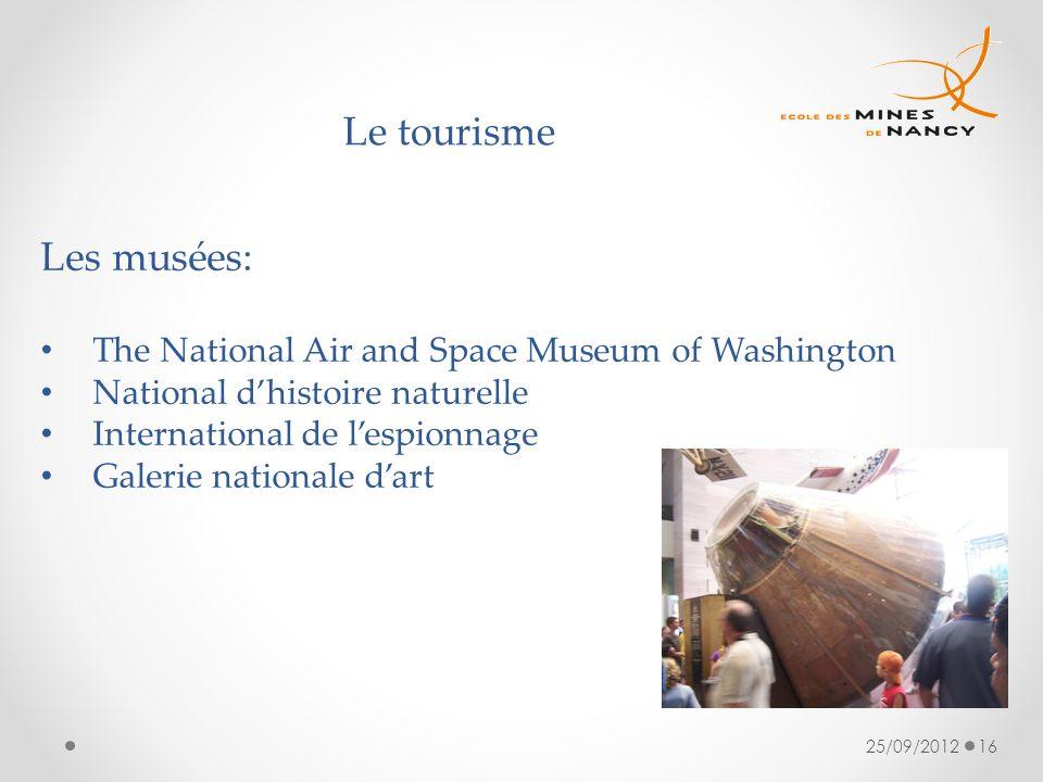 Le tourisme Les musées: