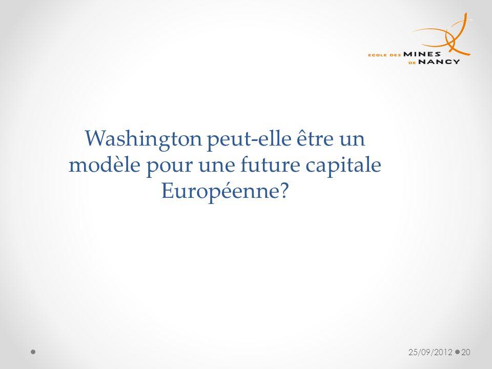 Washington peut-elle être un modèle pour une future capitale Européenne