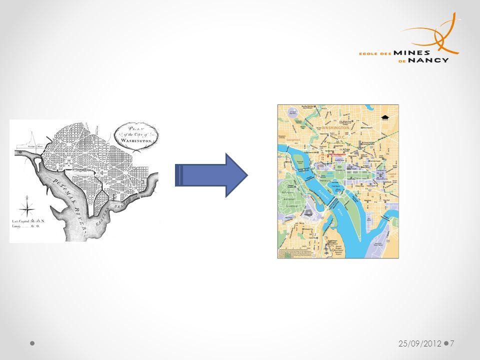 Réalisation d'une ville dans laquelle sont représentées les 3 branches du pouvoir. Washington est indépendante des 50 Etats. La Virginie et le Maryland ont donné une partie de leur territoire à WDC.