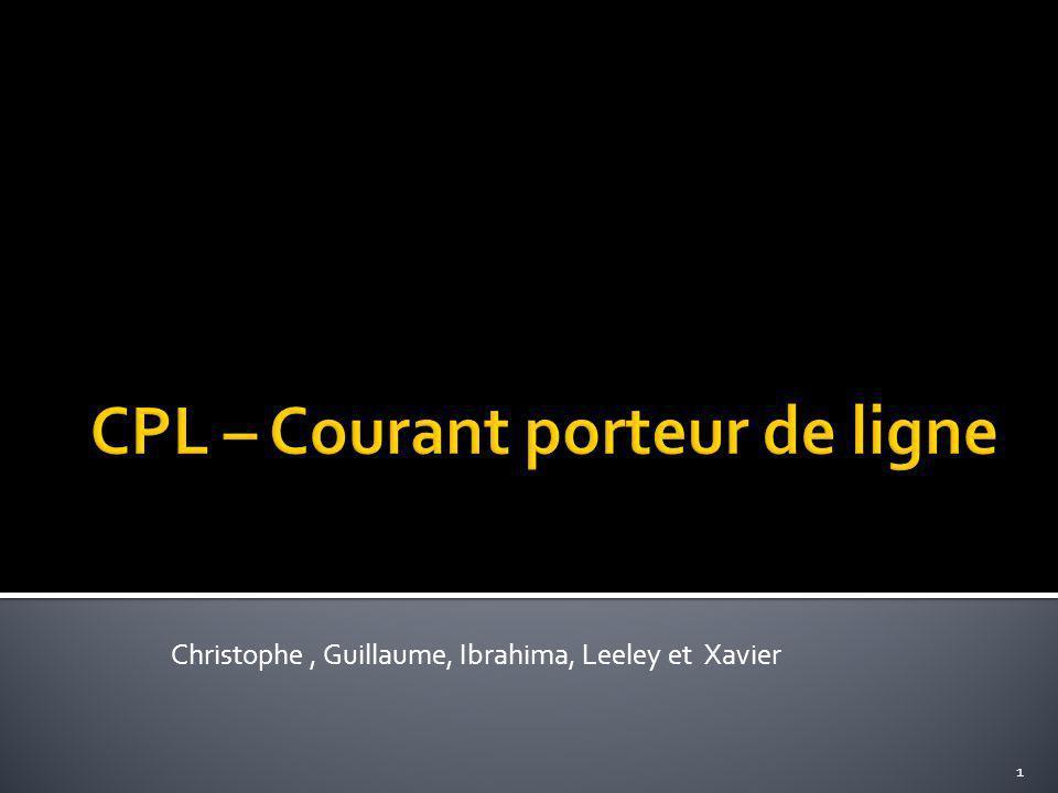 CPL – Courant porteur de ligne