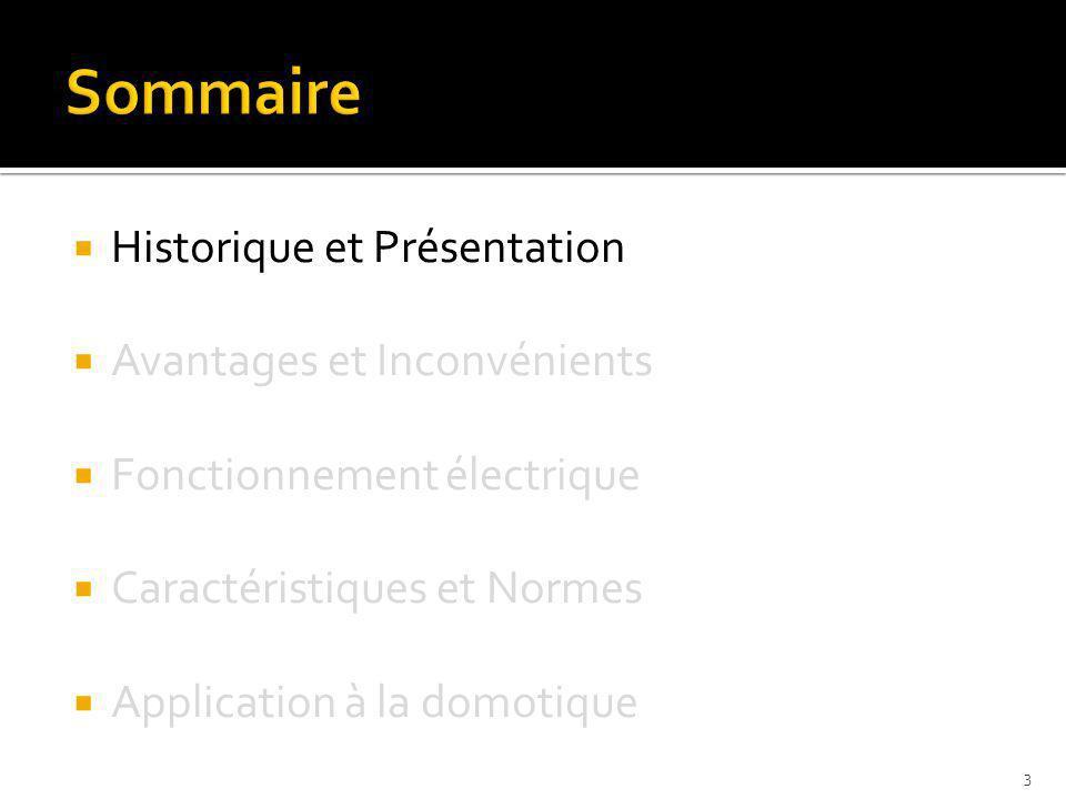 Sommaire Historique et Présentation Avantages et Inconvénients