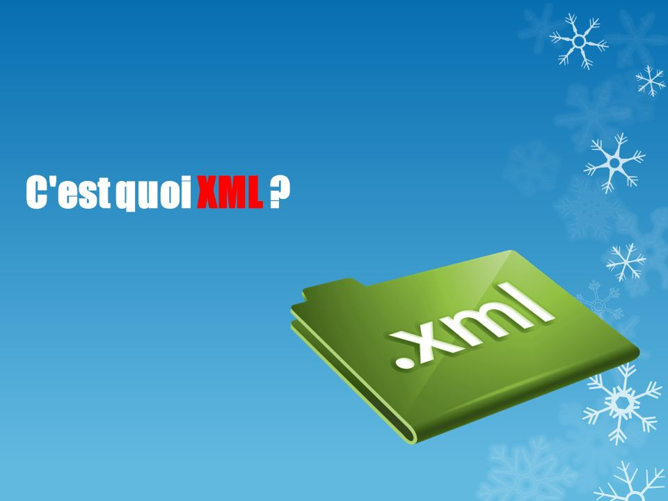 C est quoi XML