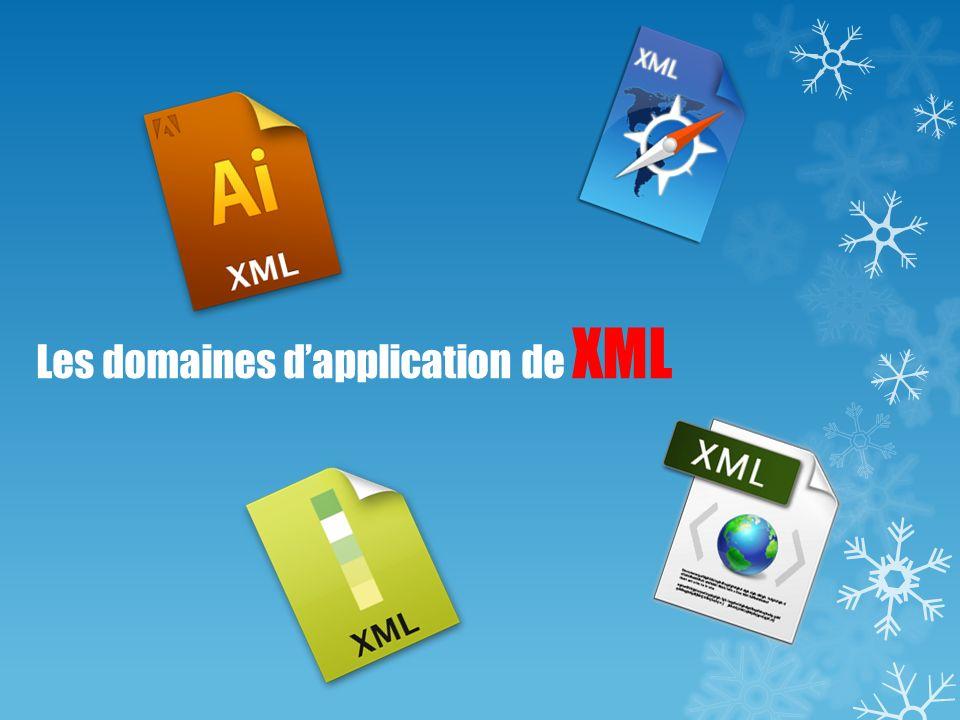 Les domaines d'application de XML