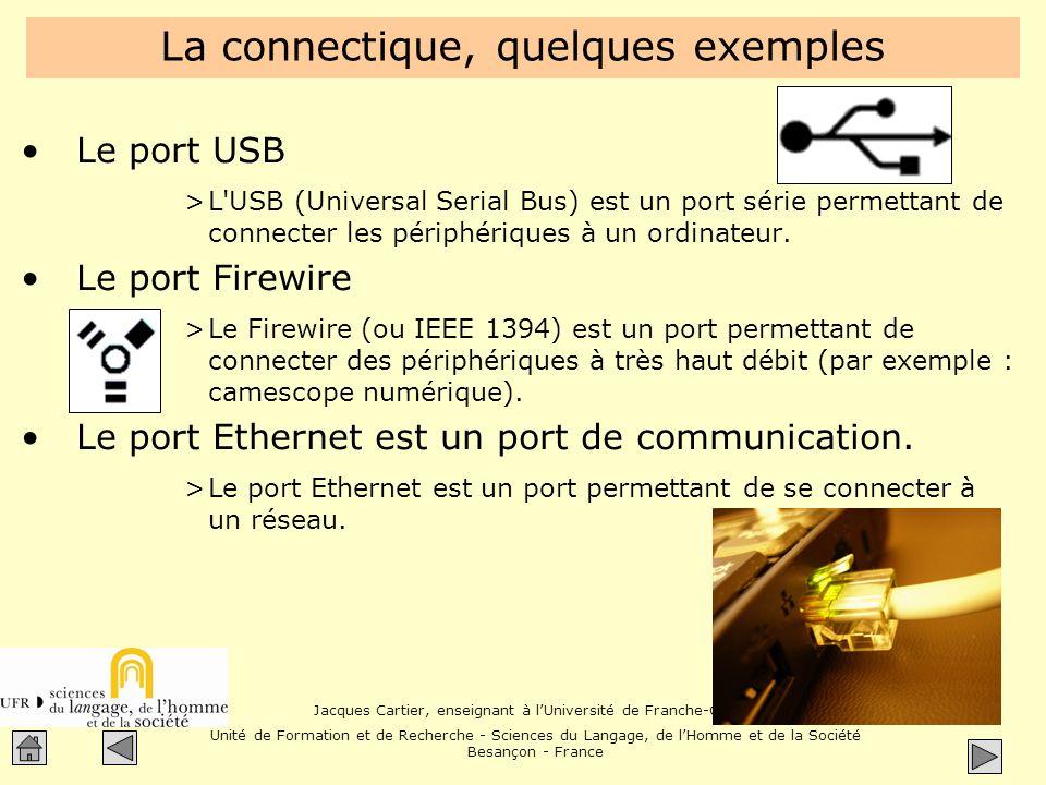 La connectique, quelques exemples