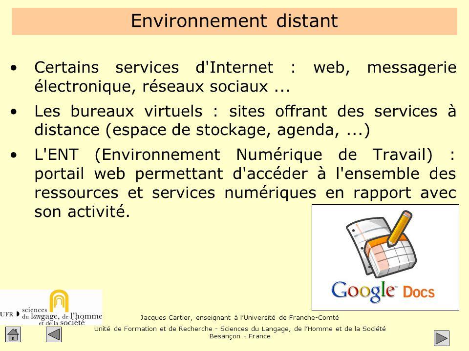 Environnement distant