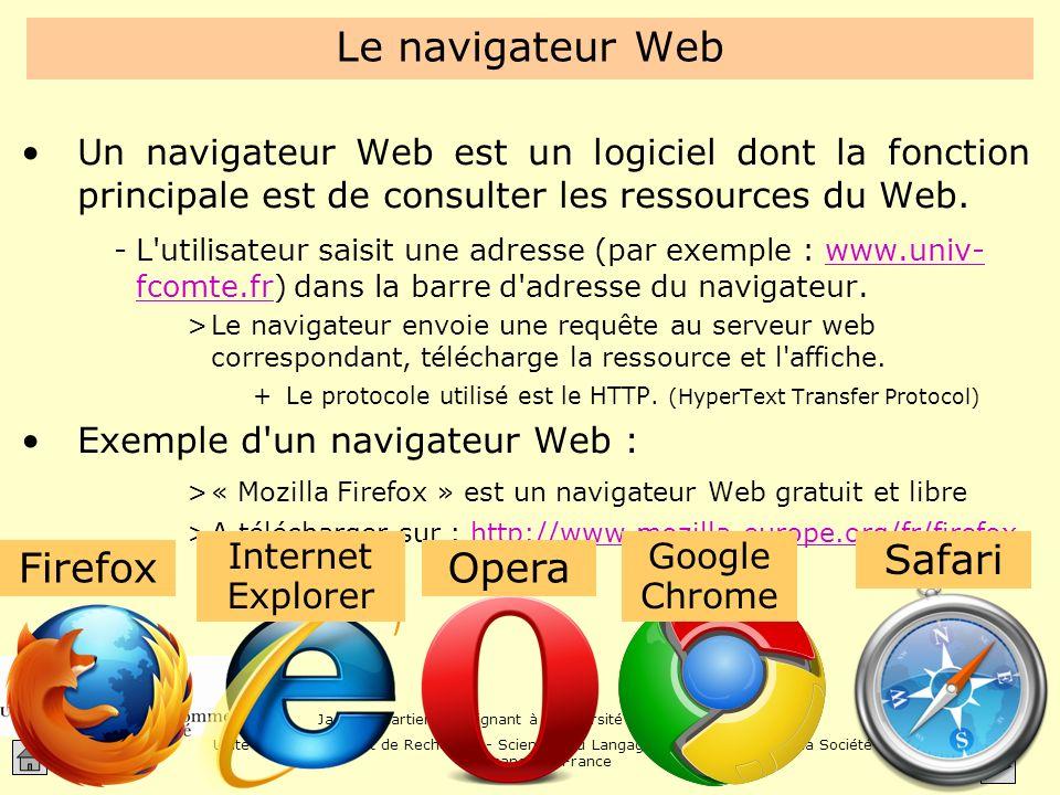 Le navigateur Web Safari Firefox Opera