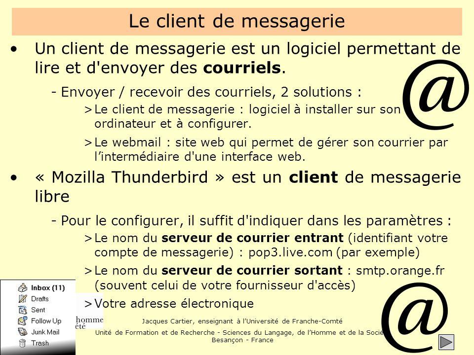 Le client de messagerie