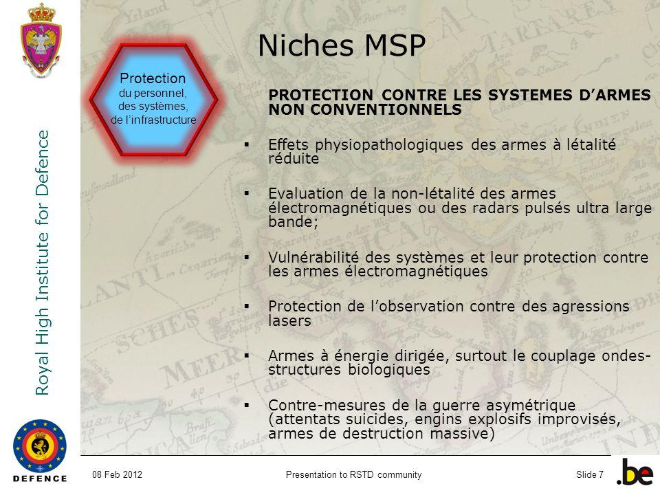 Niches MSP Protection du personnel, des systèmes, de l'infrastructure