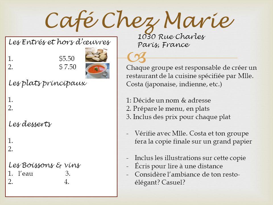 Café Chez Marie 1030 Rue Charles Paris, France