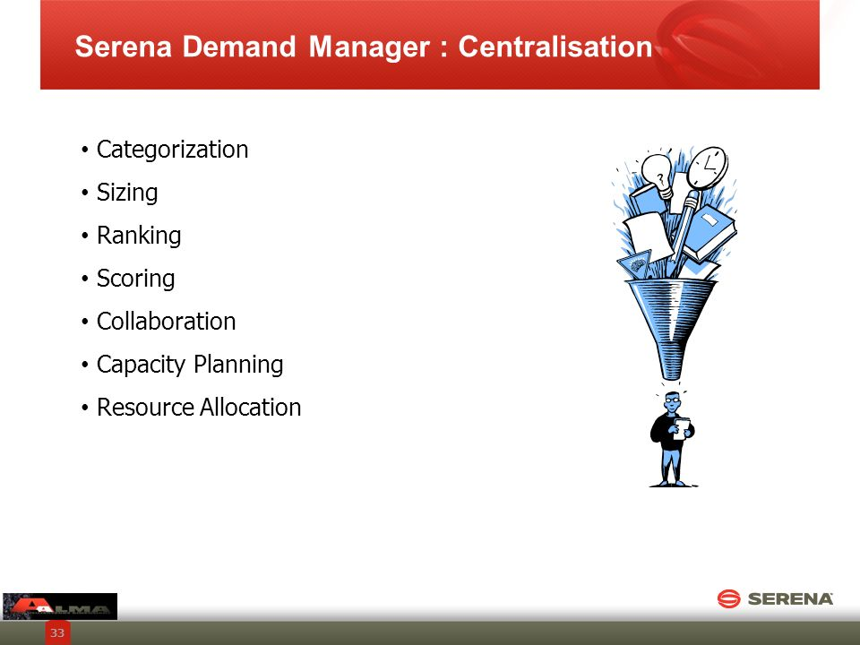 Serena Demand Manager : Centralisation
