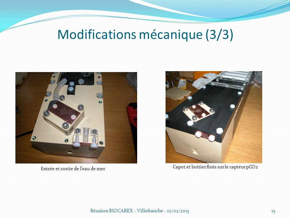Modifications mécanique (3/3)