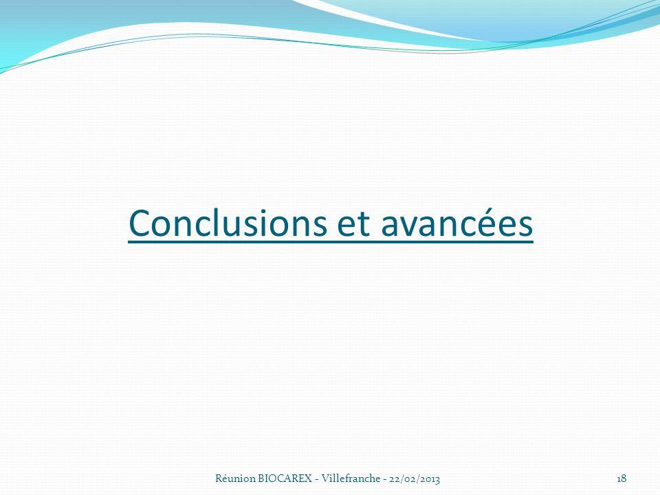 Conclusions et avancées