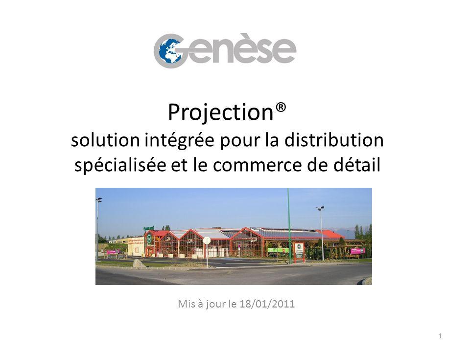 Projection® solution intégrée pour la distribution spécialisée et le commerce de détail